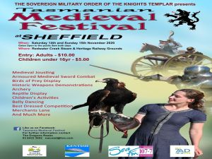 Sheffield Tasmania Medieval Festival 2020 - Grafton Accommodation