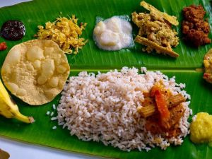 Babaji's Big Fat Keralan banana leaf feast - Grafton Accommodation